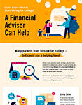 illustrated infographic financial professionals can help save for college